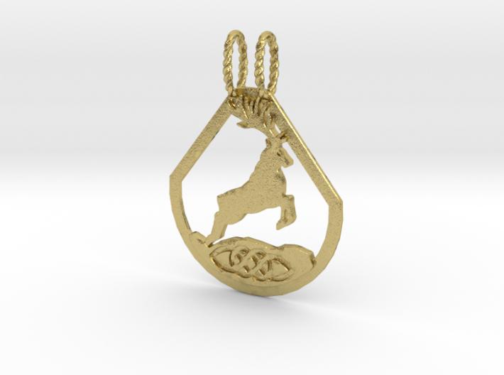 Celtic Zodiac Stag/Deer pendant 3d printed