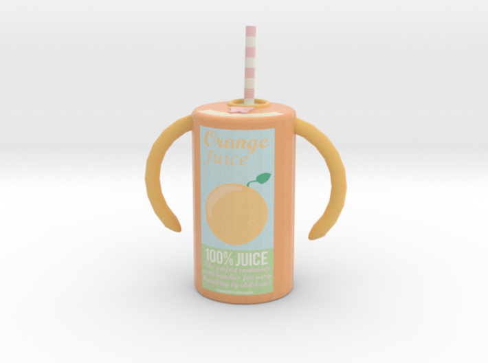 Juice Cylinder (new design) 3d printed Miniature version (matte)
