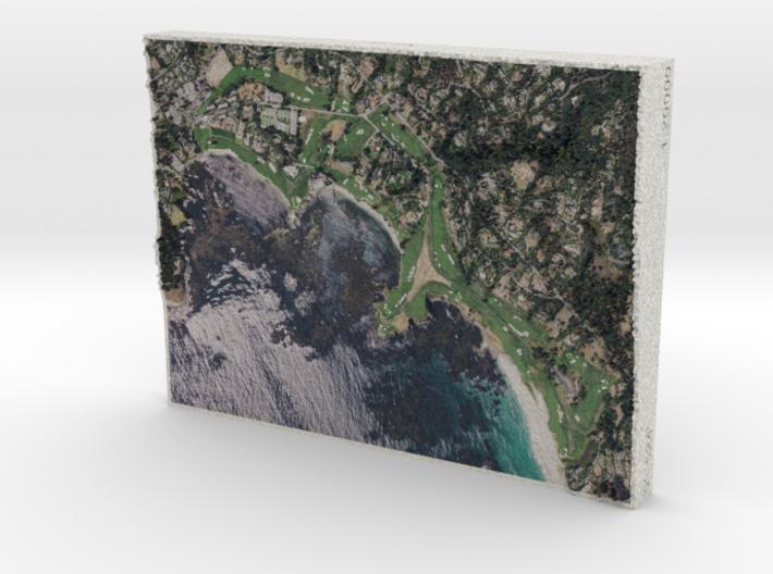 Pebble Beach Golf Links, California, 1:20000 3d printed