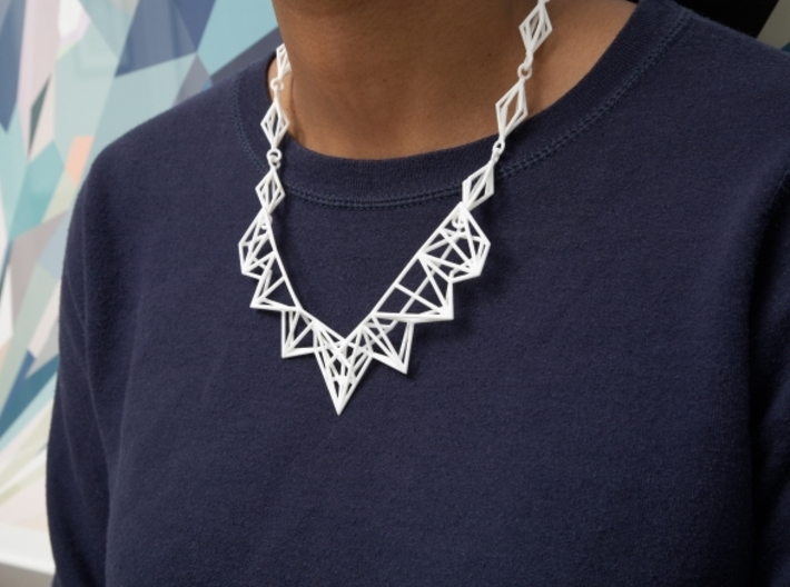 Radical Necklace 3d printed Picture by Shapeways
