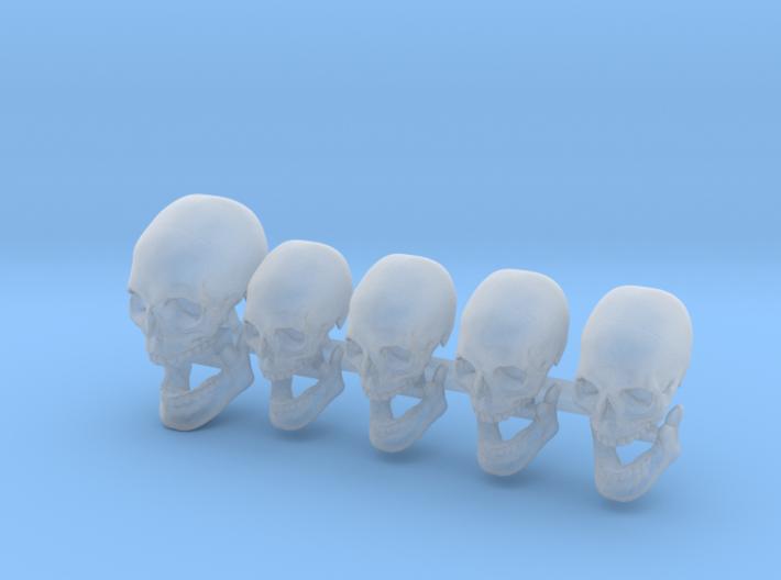 High Quality Skulls - 4 X 28mm - 1 X 35mm 3d printed
