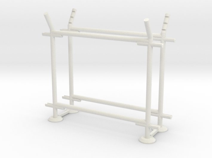 10' Straight Fence Frame, 1-Bay (2 ea.) 3d printed Part # CL-10-17