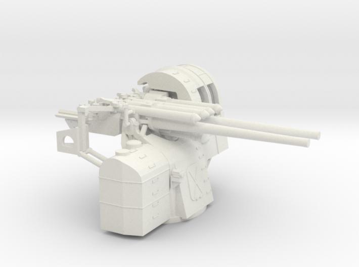 1/100 IJN Type 89 127mm Twin Mount 3d printed
