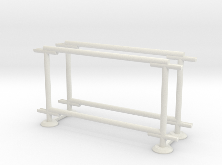 6' Straight Fence Frame-1-Bay (2ea.) 3d printed Part # CLBF-005-2