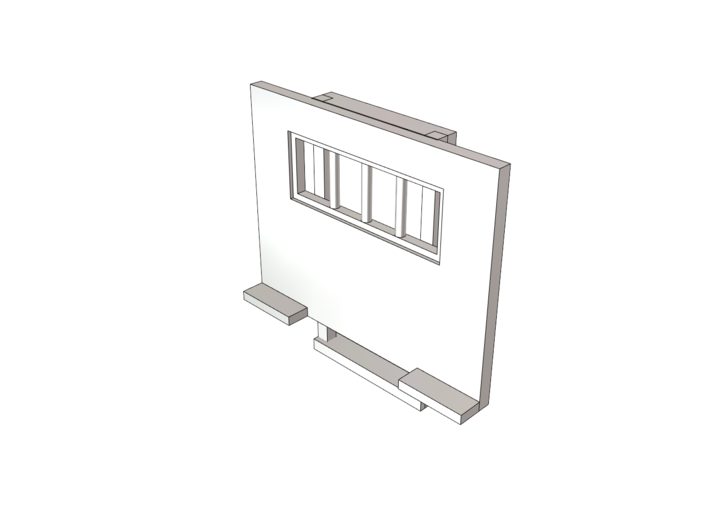 Cab Guard With Window 2 Pack 1-87 HO Scale 3d printed