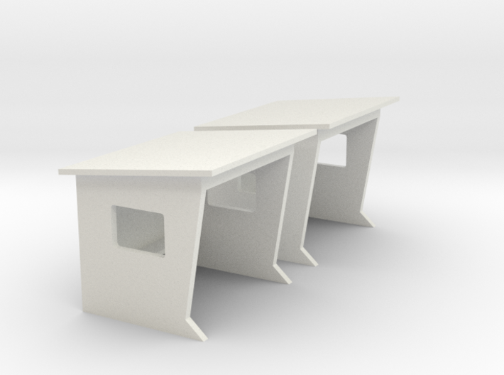 1/60 French bus shelter / abribus béton 3d printed
