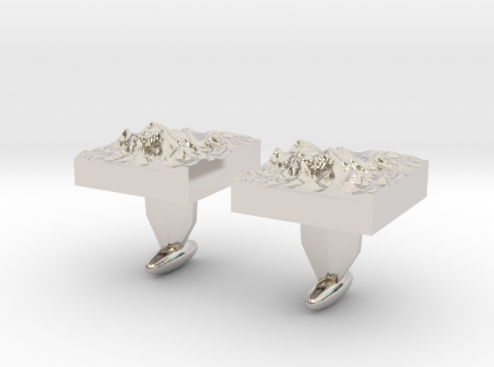Mt. Everest cuff links 3d printed