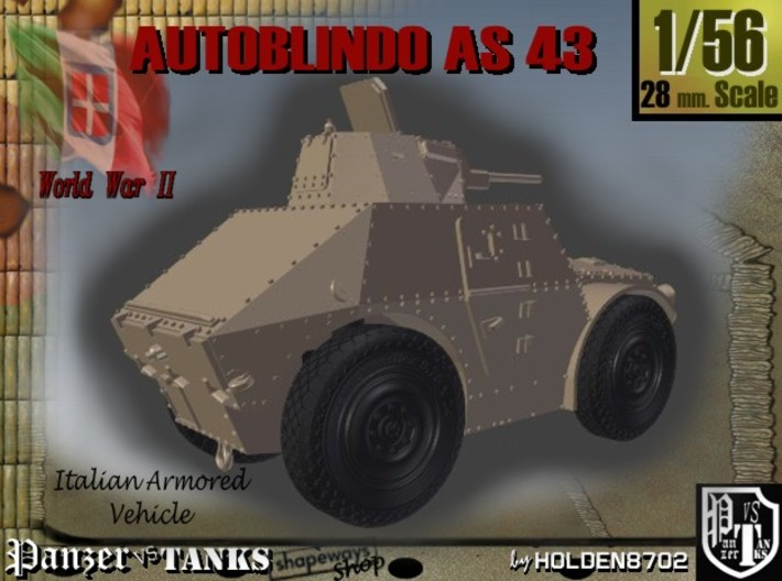 1-56 Autoblindo AS43 3d printed