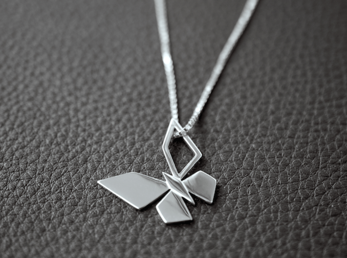 CPH BUTTERFLY PENDANT 3d printed CPH BUTTERFLY PENDANT, PREMIUM SILVER