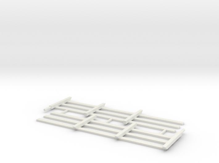 Wood Rail Fence - 3R (2 ea.) 3d printed Part # WRF-006