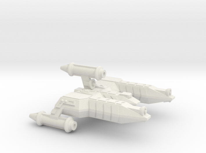 3788 Scale Lyran Refitted War Destroyer Scout CVN 3d printed