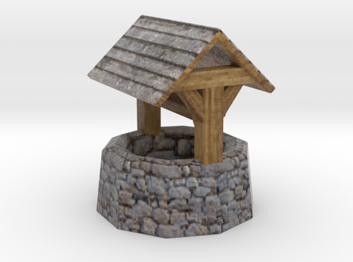 Miniature medieval well 3d printed