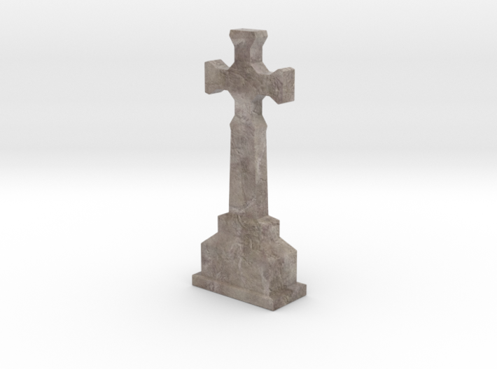 Miniature Stone Cross 01 3d printed