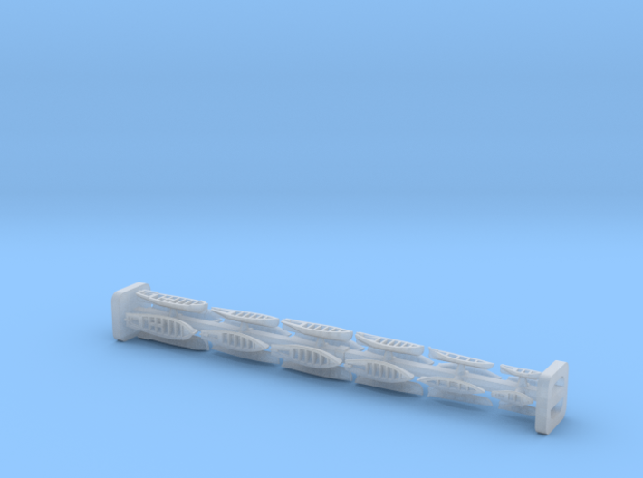 Rowing Boats 1/1250 3d printed
