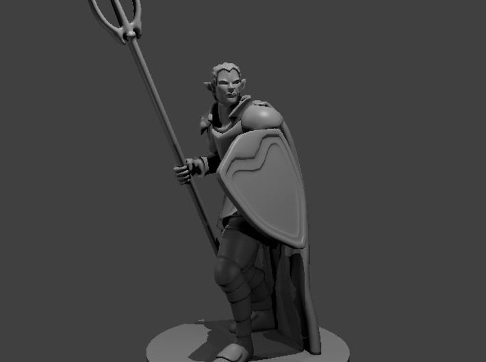 Male Elven Storm Cleric 3d printed