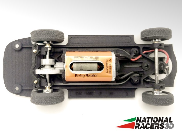 3D Chassis - Carrera Mercedes 300SL (Inline - AiO) 3d printed