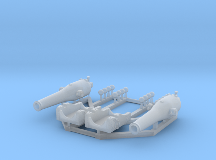 2 X 1/192 Dahlgren XI Smoothbore Cannon 3d printed
