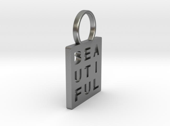 """Beautiful"" Pendant 3d printed"