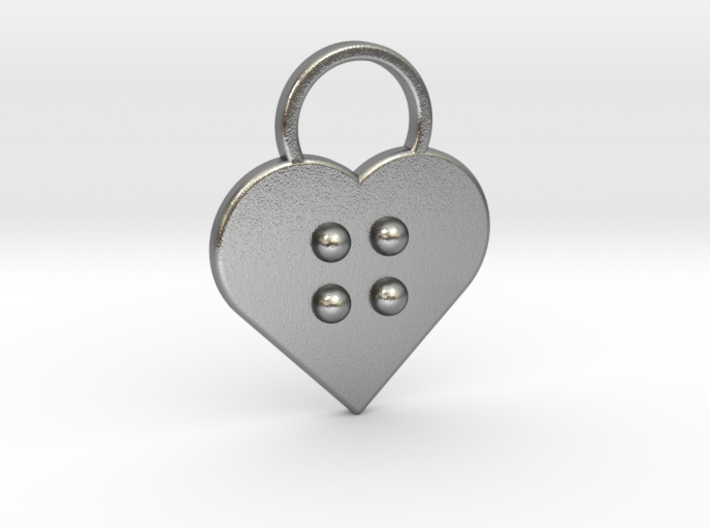 """""""g"""" Braille Heart 3d printed"""