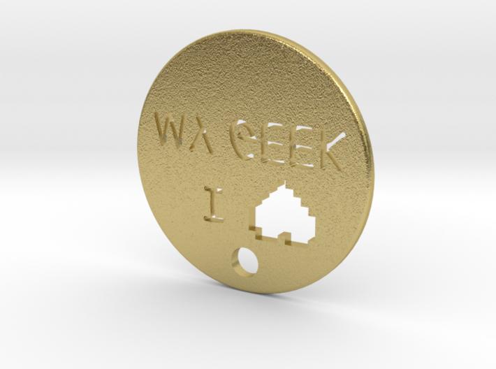 I love my geek pendant 3d printed