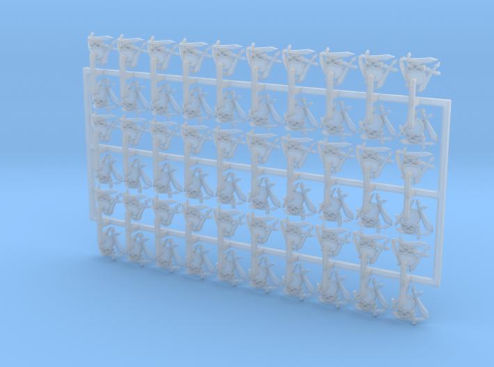 60x Silver Guard : Shoulder Insignia pack 3d printed