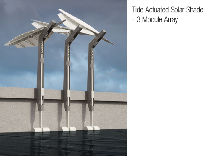 Tide Actuated Sun-Shade Part Set 2 of 2 3d printed Add a caption...