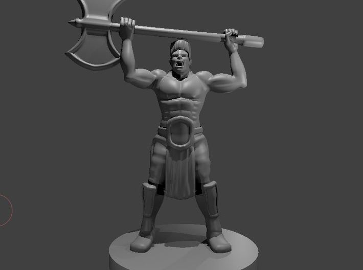 Half Orc Barbarian WITH A MULLET raging 3d printed