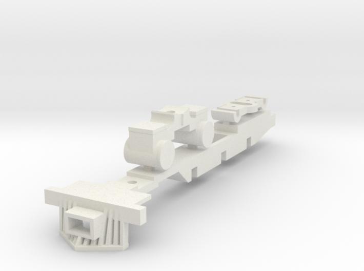 HOn3 4-6-0 frame 3d printed