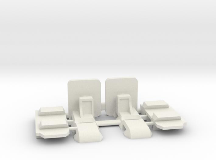Mc Laren - Supports carrosserie réglables - v2 3d printed