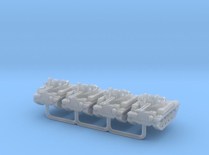 AA Gun M42 Duster Scale: 1:220 x4 3d printed