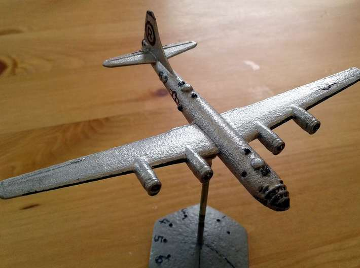 1/400 B29 Superfortress 3d printed Closeup of hand-painted model. Base is not included.