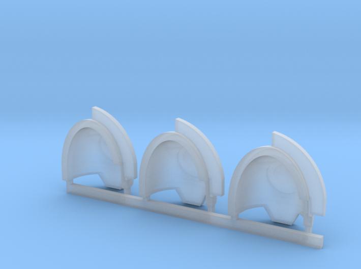 Aggressor Shoulder Pads x3 Ultramarines Mallistone Foundries Gravis