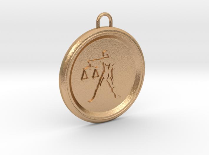 libra-pendant 3d printed star sign libra