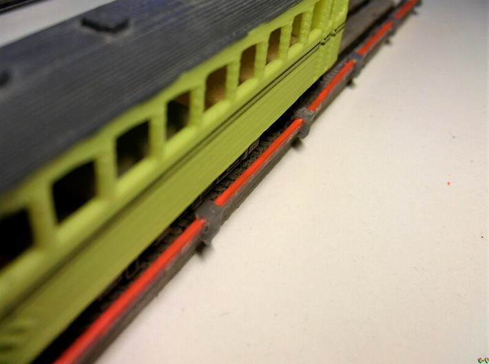 Stromschiene Conductor rail 1:160 Spur N Scale 3d printed Carril conductor