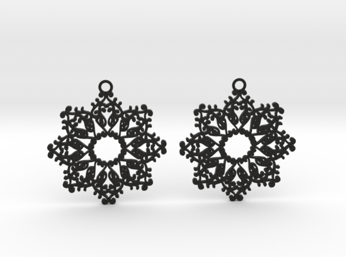 Ornamental earrings no.4 3d printed