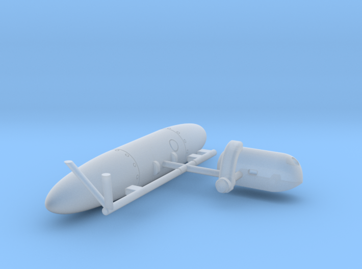 Wessex External Store Carrier and Fuel Tank (Port) 3d printed 1/72 Westland Wessex External Stores Carrier and Fuel Tank