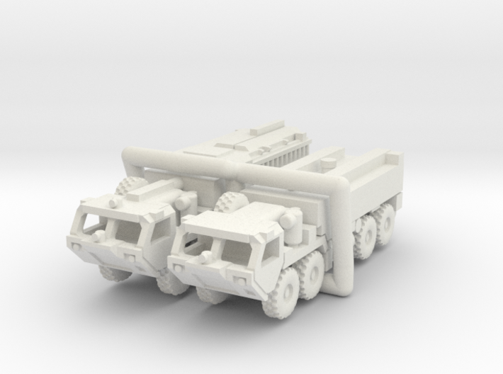HEMTT Fire Fighting Convoy 1:220 (Z) scale 3d printed the pieces are caged together to avoid loss and damage - NO SPRUES to cut away!