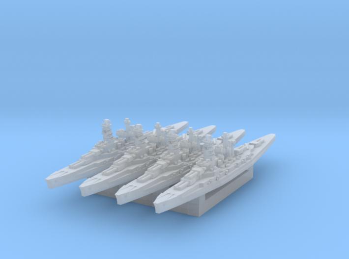 IJN Kongo class battleship x4 1/4800 3d printed