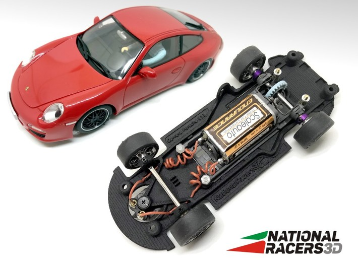 3D Chassis - Carrera Porsche 911 (Combo) 3d printed Chassis compatible with Carrera model (slot car and other parts not included)