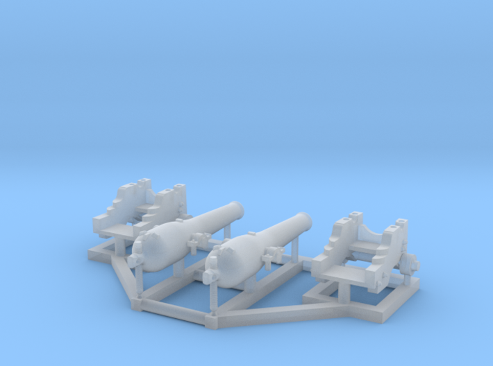 2 X 1/192 Dahlgren IX Smoothbore Cannon 3d printed