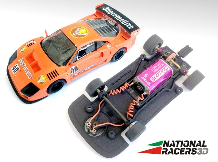 3D Chassis - FLY Ferrari F40 (Combo) 3d printed Chassis compatible with Fly model (slot car and other parts not included)
