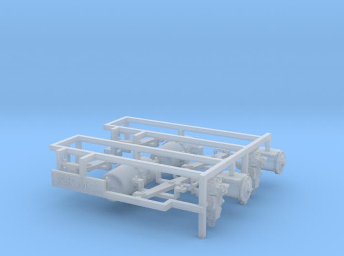 HO AB Brake System Kit WITHOUT Regulator 3d printed