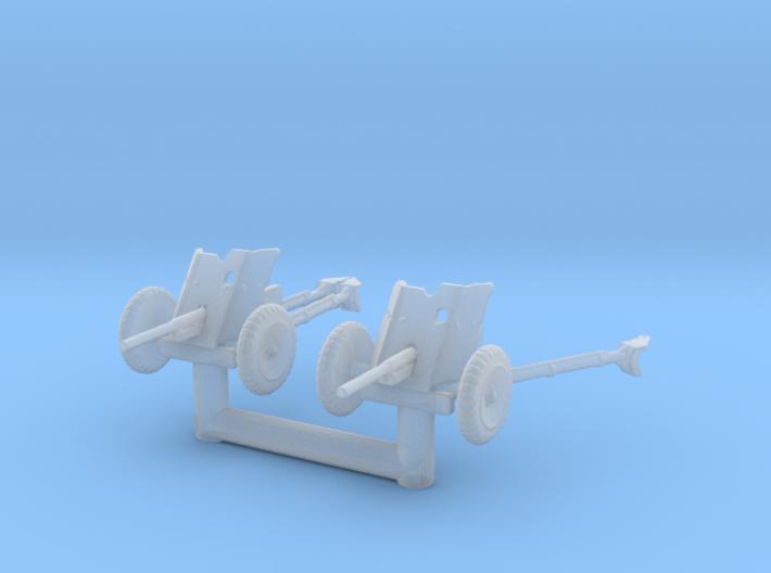 Pak 36 (2 pieces) scale 1/144 3d printed