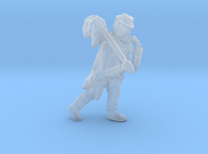 Railroad Hobo Tramp HO Scale Figure 3d printed