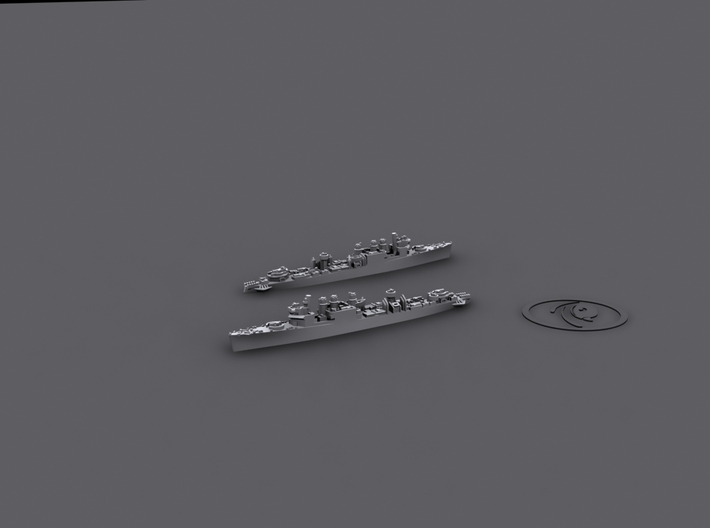 1/4800 US DD Clemson-Wickes (4+3) 3d printed Clemson-Wickes[1943] (Ocean Escort/Submarine Hunter conversion)