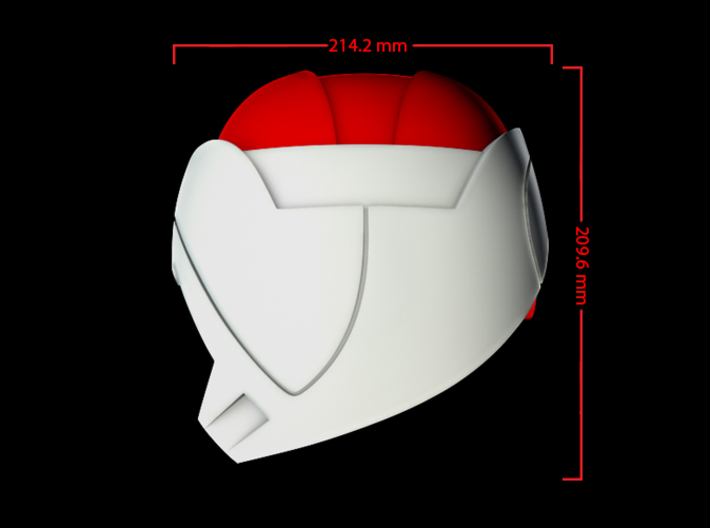 Iron Man Mark IV Shoulder Armor (Inner) 3d printed CG Render ( Side Measurements, Inner Armor with Outer Armor)