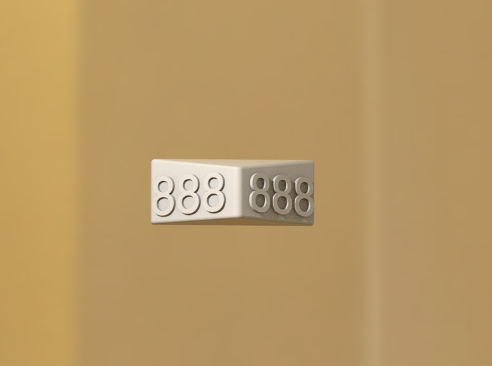 Door plate with a number in 3D 3d printed