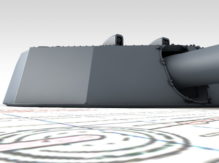 """1/600 HMS Colossus Class 1910 12"""" MKXI Guns x5 3d printed 3D render showing Turret Detail"""