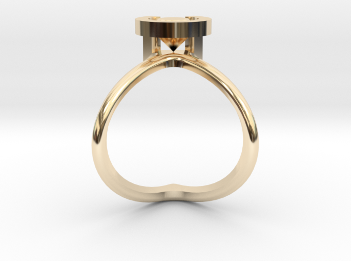 Cristopher's Engagement Ring 3d printed