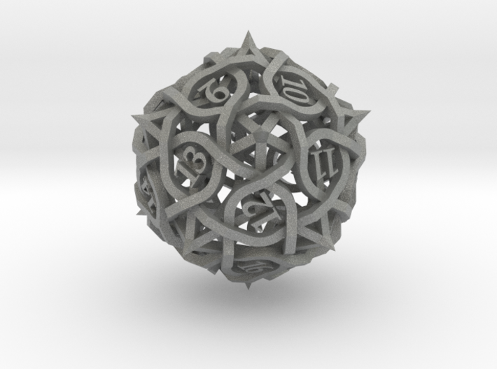 Spindown Thorn d20 3d printed